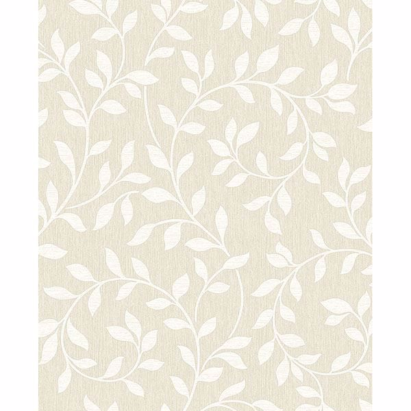 Picture of Torrey Taupe Leaf Trail Wallpaper