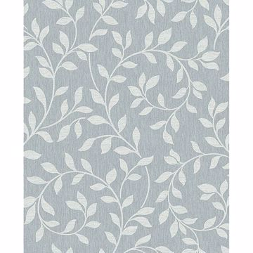 Picture of Torrey Light Blue Leaf Trail Wallpaper