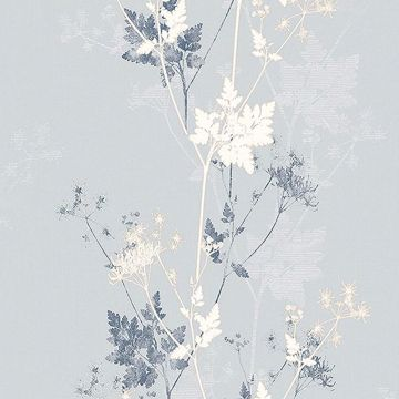 Picture of Tara Silver Sprig Wallpaper