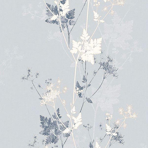 Picture of Tara Silver Sprig Wallpaper