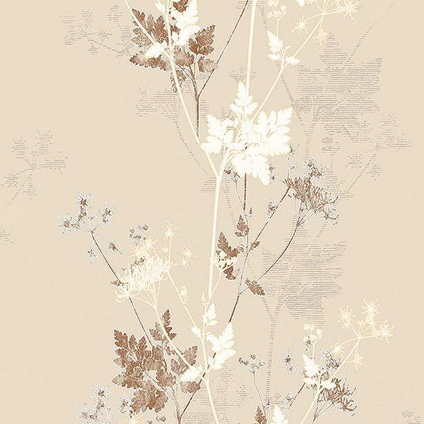 Picture of Tara Cream Sprig Wallpaper