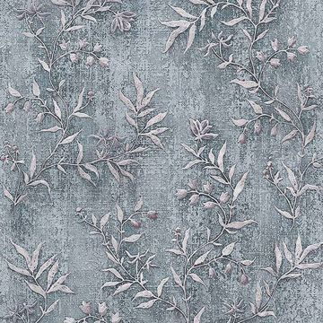 Picture of Dahlia Blue Trail Wallpaper