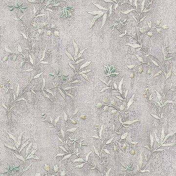 Picture of Dahlia Taupe Trail Wallpaper
