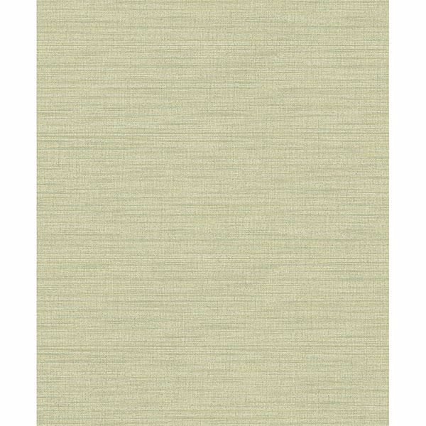Picture of Ashleigh Green Linen Texture Wallpaper