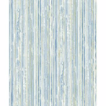 Picture of Savanna Blue Stripe Wallpaper