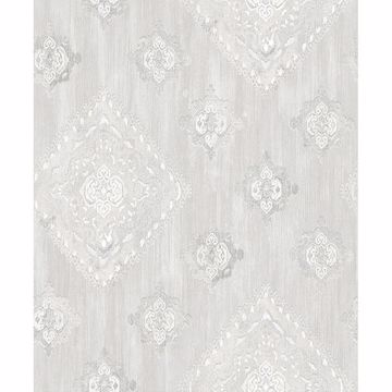 Picture of Leana Dove Medallion Wallpaper
