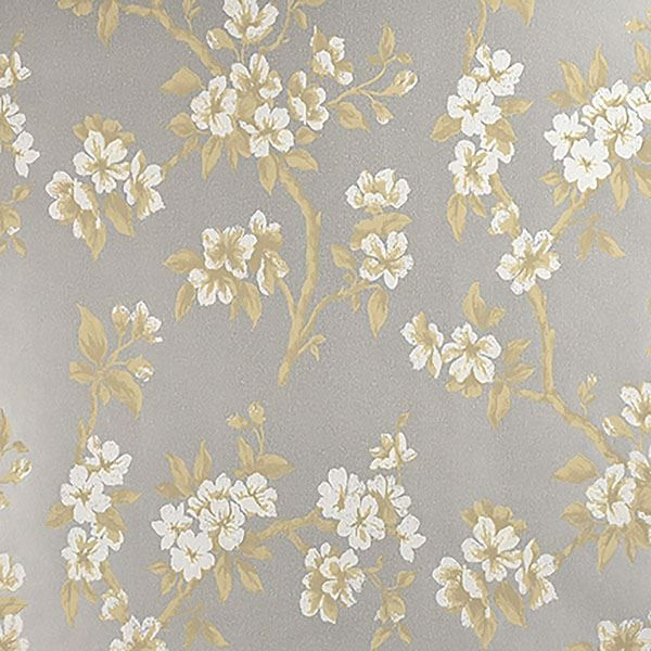 Picture of Ellen Silver Floral Wallpaper