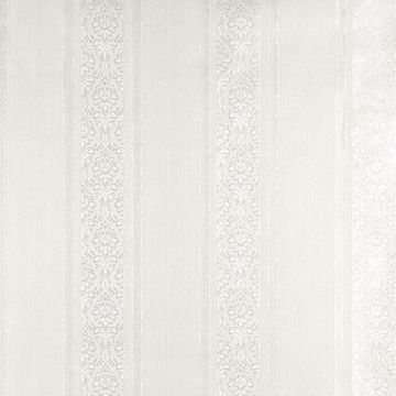 Picture of Mackenzie White Stripe Wallpaper