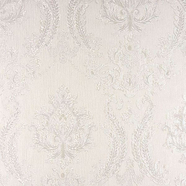 Picture of Maizey White Damask Wallpaper
