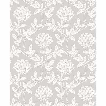 Picture of Ogilvy Silver Floral Wallpaper