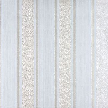 Picture of Mackenzie Mint Stripe Wallpaper