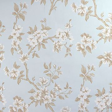 Picture of Ellen Blue Floral Wallpaper