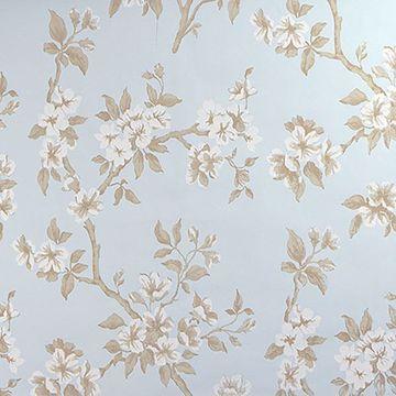 Picture of Ellen Blue Floral Wallpaper