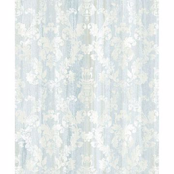 Picture of Camilia Light Blue Damask Wallpaper