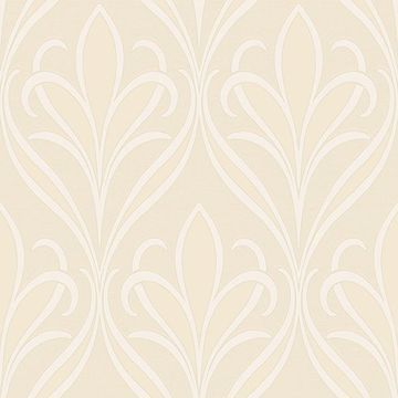Picture of Vivian Neutral Nouveau Damask Wallpaper
