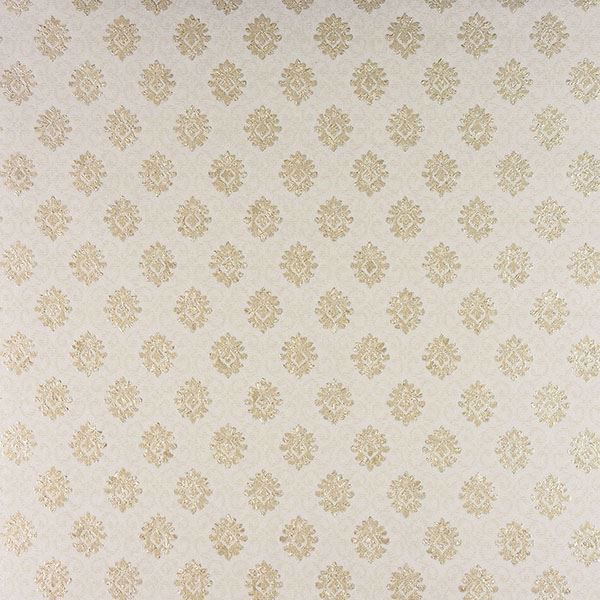 Picture of Madelyn Cream Small Damask Wallpaper