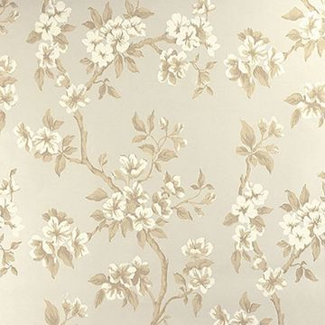 Picture of Ellen Beige Floral Wallpaper