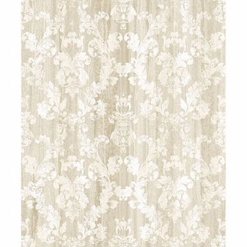 Picture of Camilia Beige Damask Wallpaper