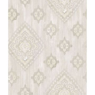 Picture of Leana Yellow Medallion Wallpaper