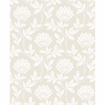 Picture of Ogilvy Platinum Floral Wallpaper
