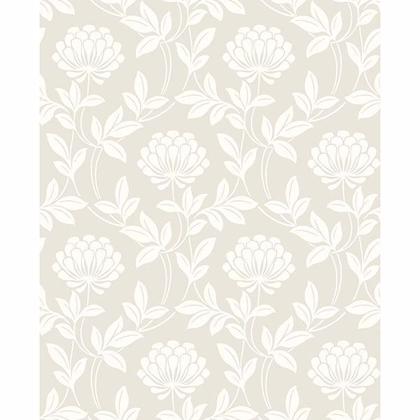 Picture of Ogilvy Platinum Floral Wallpaper