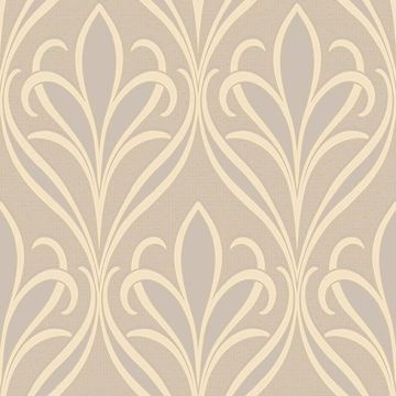 Picture of Vivian Grey Nouveau Damask Wallpaper