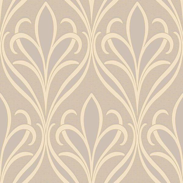 Picture of Vivian Grey Nouveau Damask Wallpaper