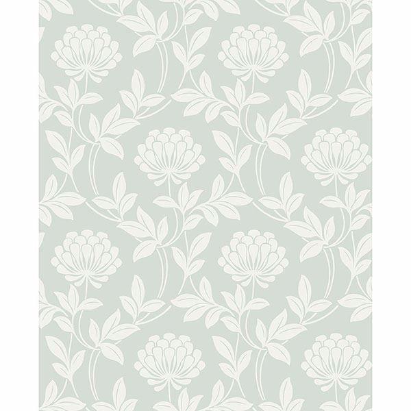 Picture of Ogilvy Seafoam Floral Wallpaper