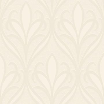 Picture of Vivian Off-White Nouveau Damask Wallpaper