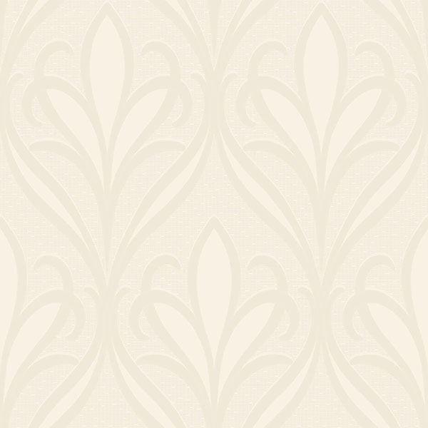 Picture of Vivian Off-White Nouveau Damask Wallpaper