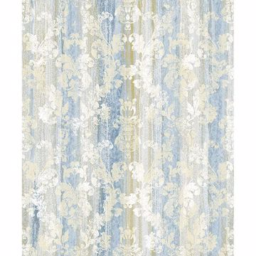 Picture of Camilia Blue Damask Wallpaper