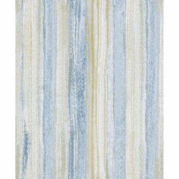 Picture of Donella Blue Stripe Wallpaper