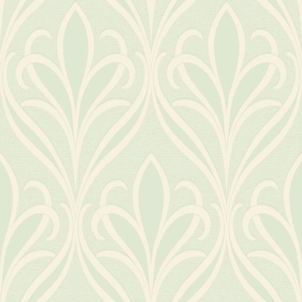 Picture of Vivian Seafoam Nouveau Damask Wallpaper
