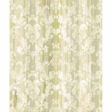 Picture of Camilia Green Damask Wallpaper