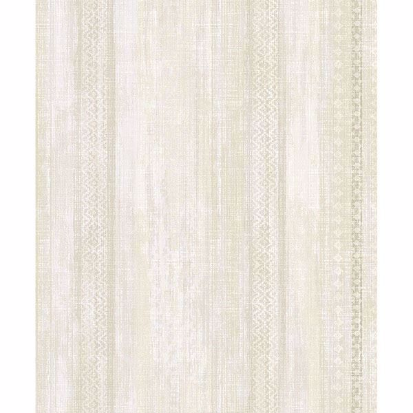 Picture of Blair Yellow Ikat Stripe Wallpaper