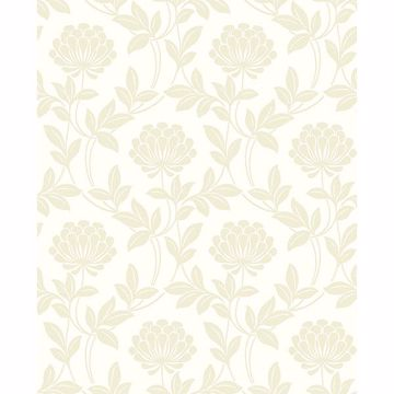 Picture of Ogilvy Bone Floral Wallpaper