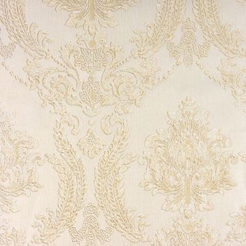Picture of Maizey Neutral Damask Wallpaper