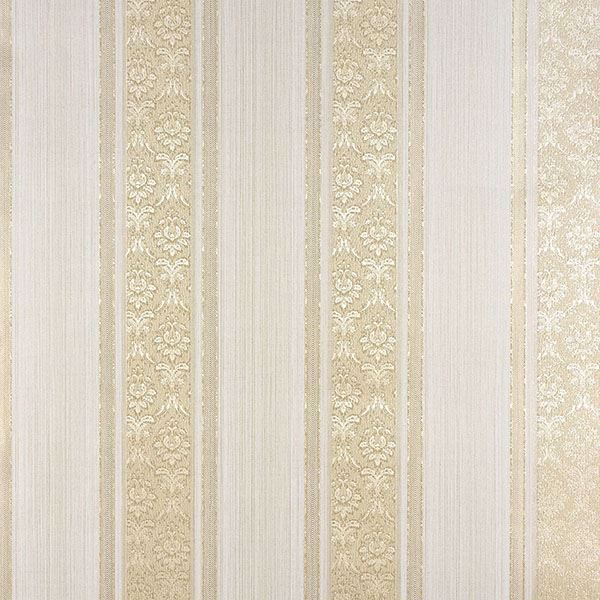 Picture of Mackenzie Gold Stripe Wallpaper