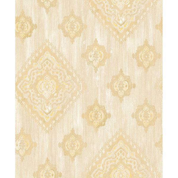 Picture of Leana Gold Medallion Wallpaper