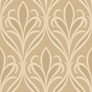 Picture of Vivian Khaki Nouveau Damask Wallpaper