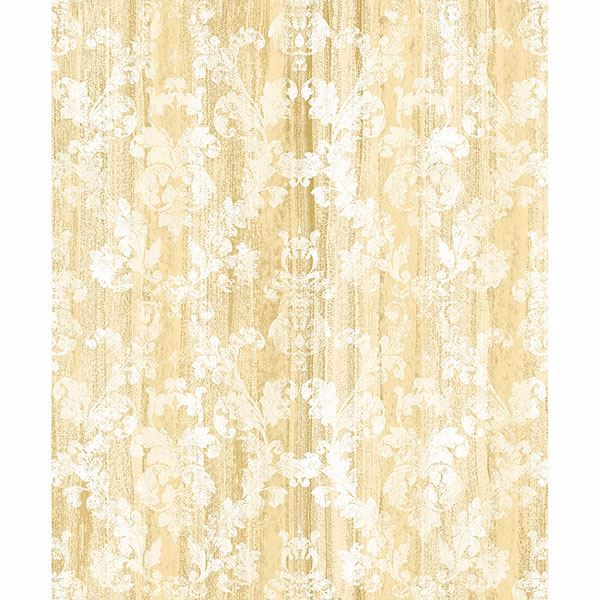 Picture of Camilia Honey Damask Wallpaper