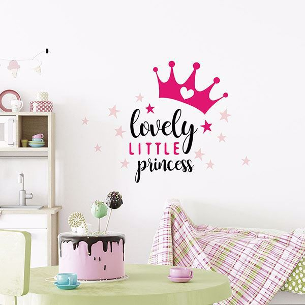 Picture of Lovely Princess Wall Quote Decals