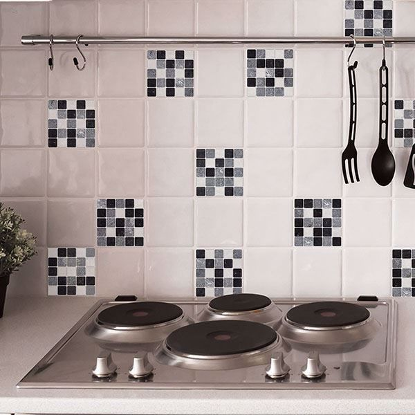 Picture of Black & White Peel and Stick Tiles