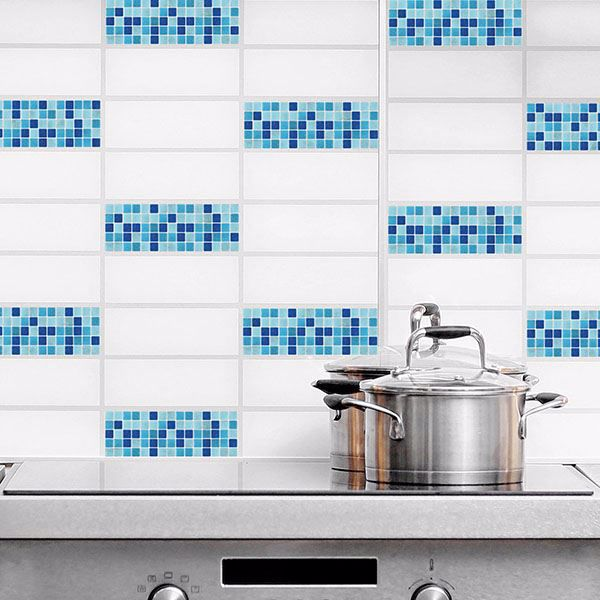 Picture of Light Blue Peel and Stick Tiles