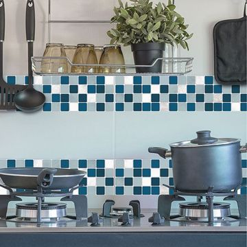 Picture of Blue Peel and Stick Tiles