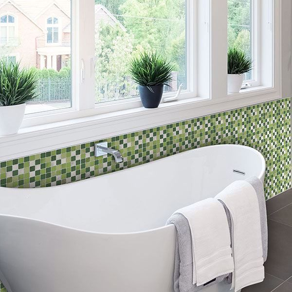 Picture of Green Peel and Stick Tiles