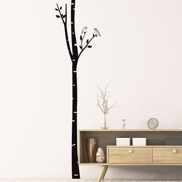 Picture of Birch with Birds Wall Decals