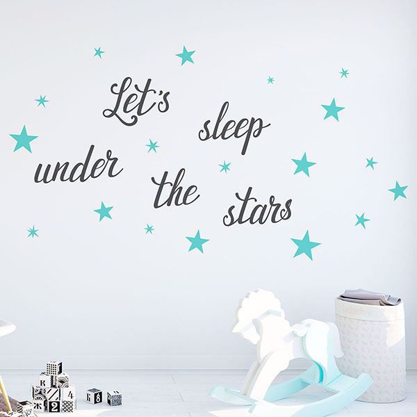 Picture of Let's Sleep Wall Decals
