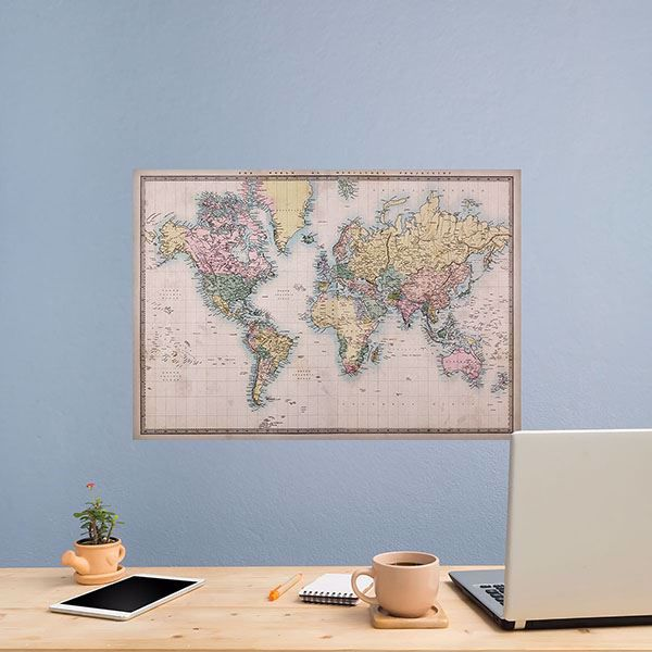 Picture of Vintage Map Wall Decals
