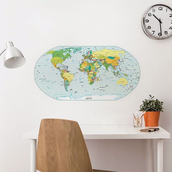 Picture of Political Map Wall Decals